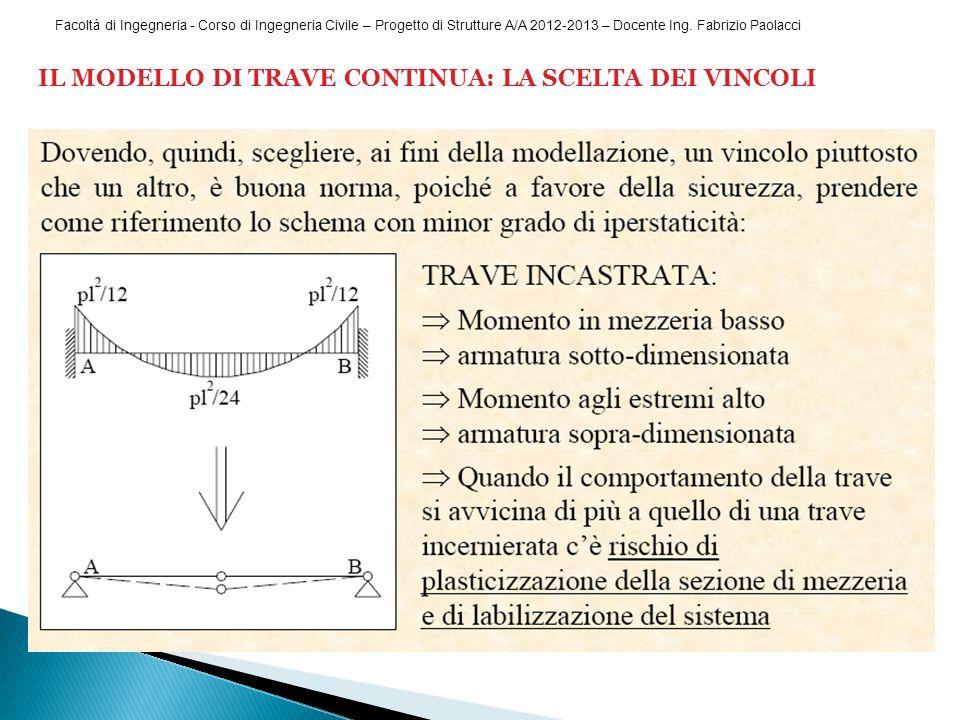 Facoltà di Ingegneria - Corso di Ingegneria Civile – Progetto di Strutture A/A 2012-2013 – Docente Ing.