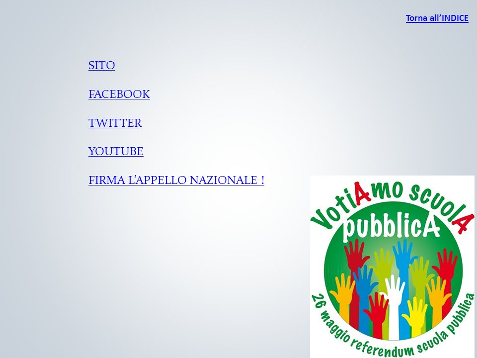 36 Torna allINDICE SITO FACEBOOK TWITTER YOUTUBE FIRMA LAPPELLO NAZIONALE !