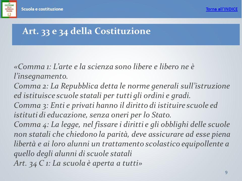 9 Scuola e costituzione Art.