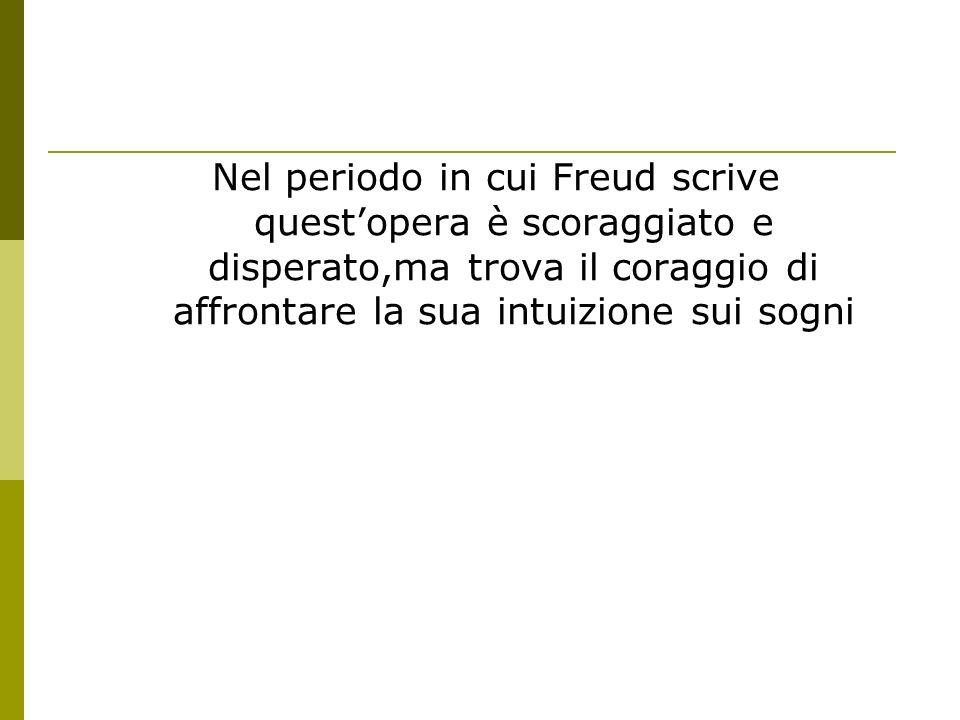 Nel periodo in cui Freud scrive questopera è scoraggiato e disperato,ma trova il coraggio di affrontare la sua intuizione sui sogni