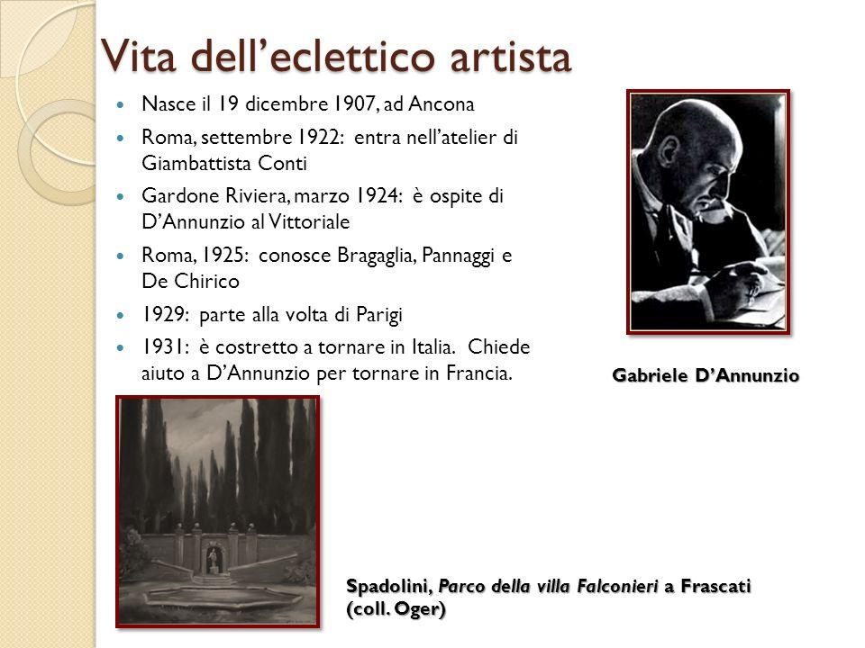 Vita delleclettico artista Nasce il 19 dicembre 1907, ad Ancona Roma, settembre 1922: entra nellatelier di Giambattista Conti Gardone Riviera, marzo 1