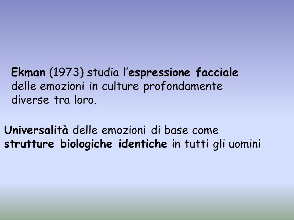 Allinizio degli anni 60 lo psicologo sociale sperimentale Schachter fu uno dei primi a proporre una teoria cognitiva delle emozioni