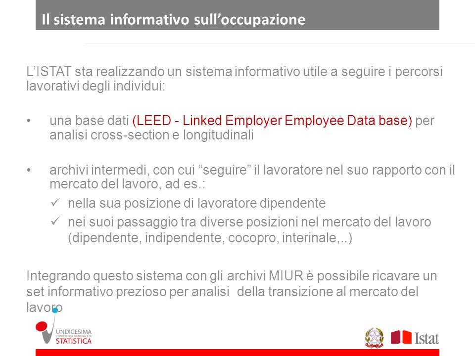 LISTAT sta realizzando un sistema informativo utile a seguire i percorsi lavorativi degli individui: una base dati (LEED - Linked Employer Employee Da