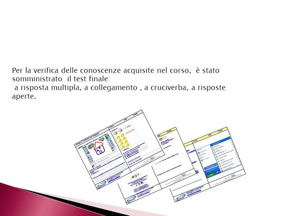 A completamento delle attività programmate, è stato proposto lutilizzo di comandi elementari di formattazione e di calcolo in Microsoft Excel, con lau