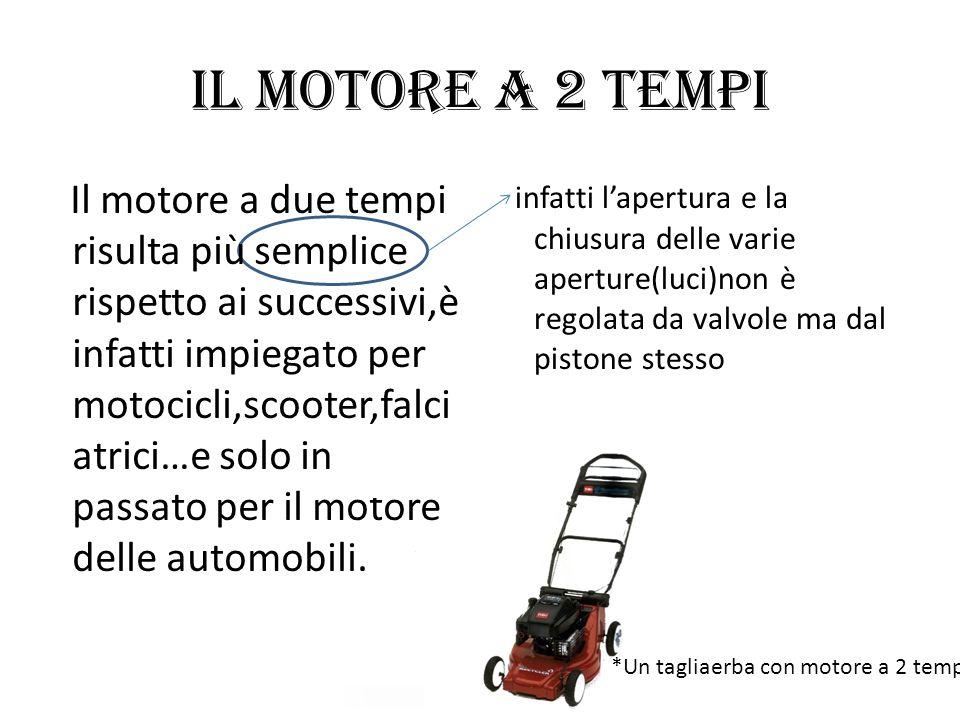 Il motore a 2 tempi infatti lapertura e la chiusura delle varie aperture(luci)non è regolata da valvole ma dal pistone stesso Il motore a due tempi ri