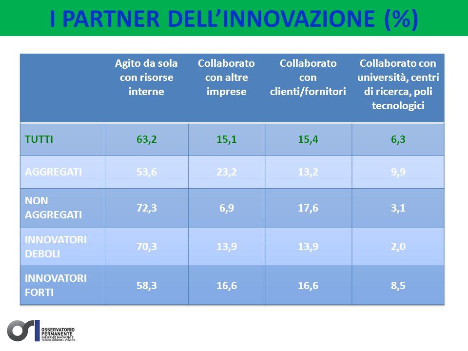 I PARTNER DELLINNOVAZIONE (%)