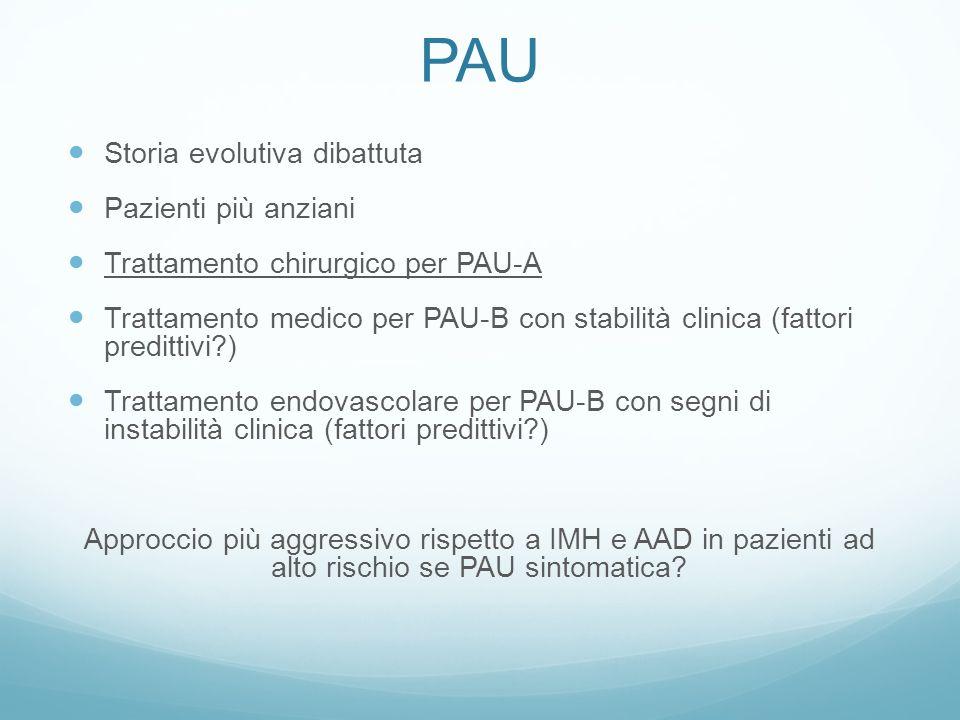 La nostra esperienza POPOLAZIONE 42 pazienti 16 IMH IMH-A 3 IMH-B 13 15 AAD 11 PAU-B
