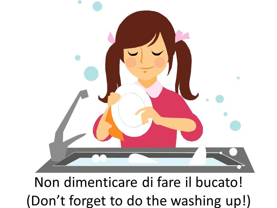 Non dimenticare di fare il bucato! (Dont forget to do the washing up!)