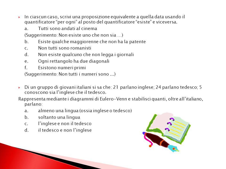 Riscrivi, usando lespressione essere sufficiente a.essere nati a Milano implica essere italiani b.se P allora Q c.A è condizione necessaria per B Cost
