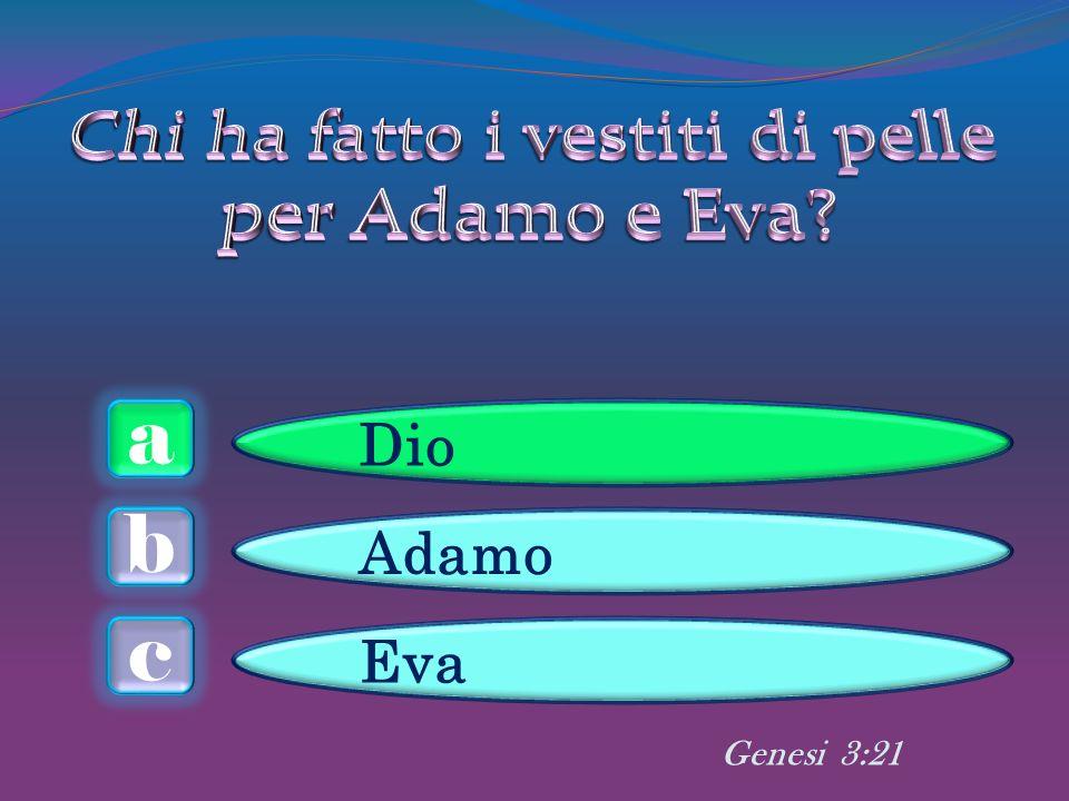 a c b Dio Adamo Eva Genesi 3:21