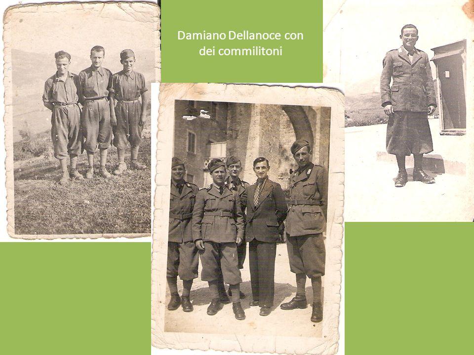 Damiano Dellanoce con dei commilitoni