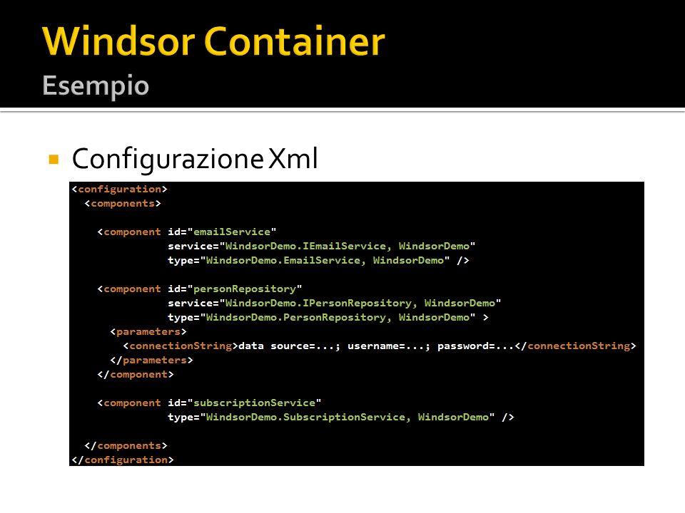 Configurazione Xml