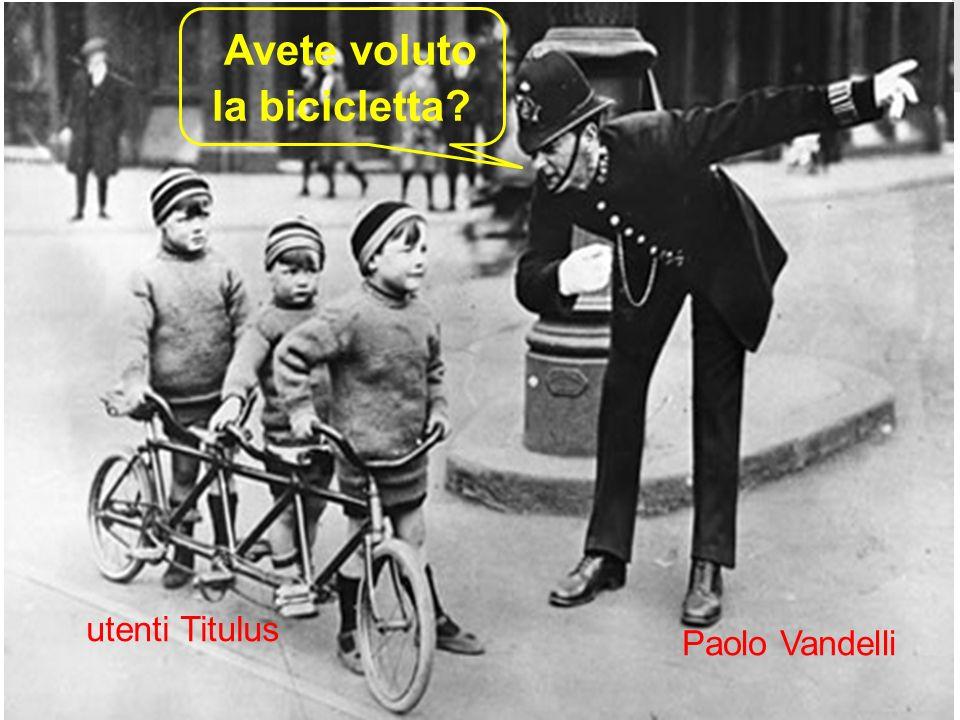 Paolo Vandelli utenti Titulus Avete voluto la bicicletta?