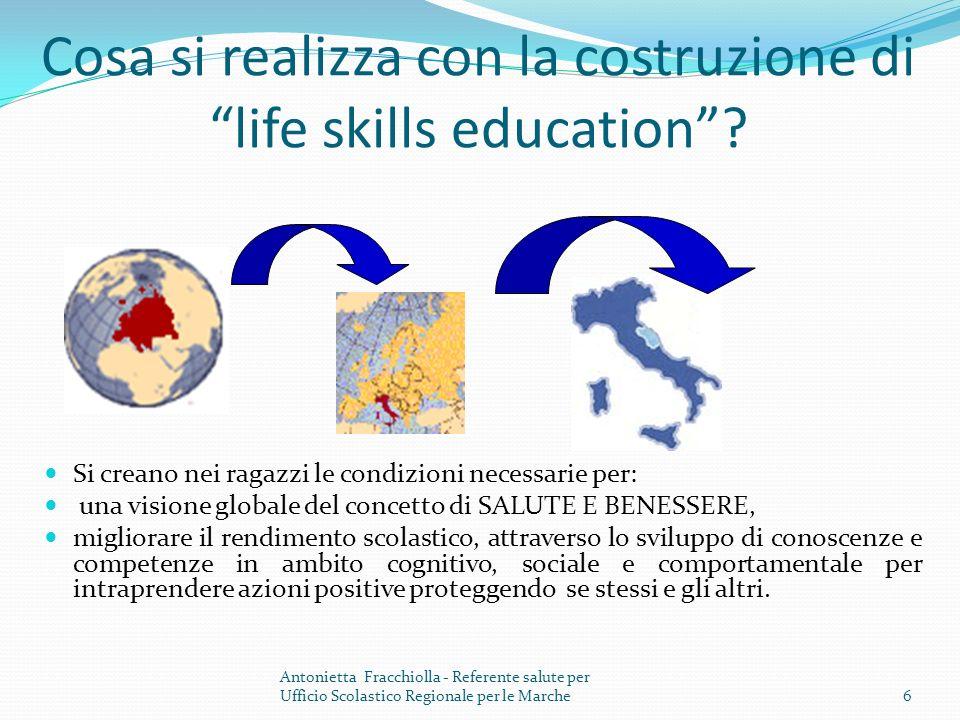Cosa si realizza con la costruzione di life skills education.
