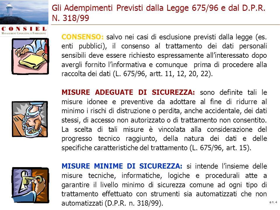 slide n. 4 CONSENSO: salvo nei casi di esclusione previsti dalla legge (es. enti pubblici), il consenso al trattamento dei dati personali sensibili de