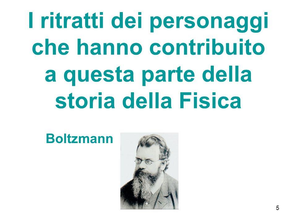 5 I ritratti dei personaggi che hanno contribuito a questa parte della storia della Fisica Boltzmann