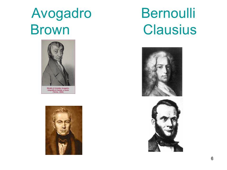 6 Avogadro Bernoulli Brown Clausius