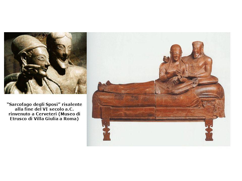 Sarcofago degli Sposi risalente alla fine del VI secolo a.C. rinvenuto a Cerveteri (Museo di Etrusco di Villa Giulia a Roma)