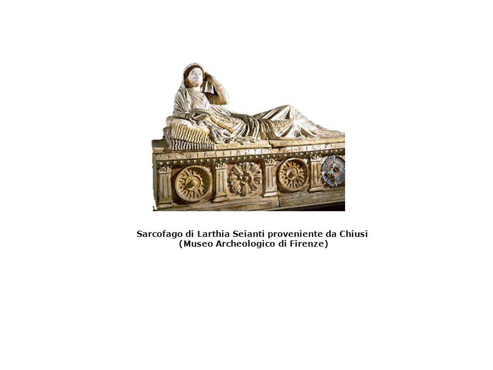Sarcofago di Larthia Seianti proveniente da Chiusi (Museo Archeologico di Firenze)