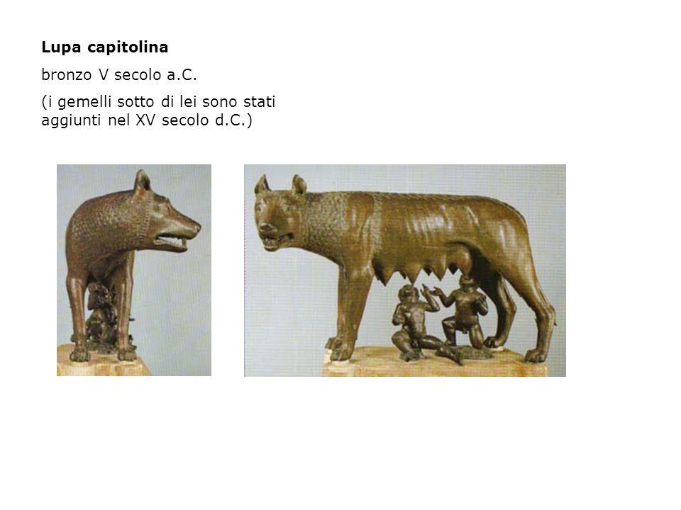 Lupa capitolina bronzo V secolo a.C.