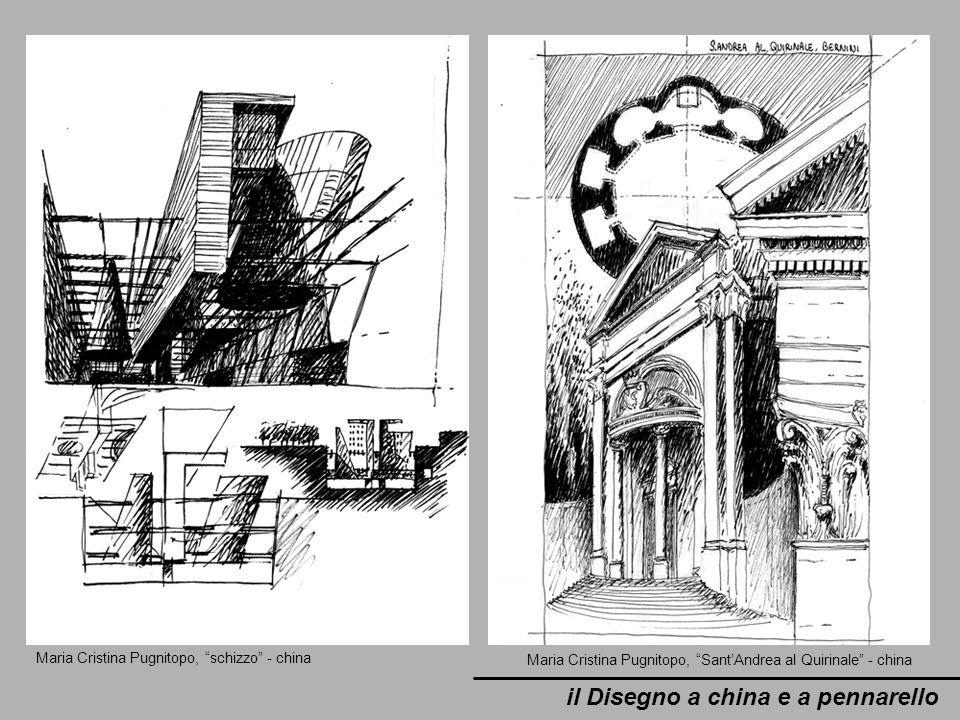 il Disegno a china e a pennarello Maria Cristina Pugnitopo, schizzo - china Maria Cristina Pugnitopo, SantAndrea al Quirinale - china