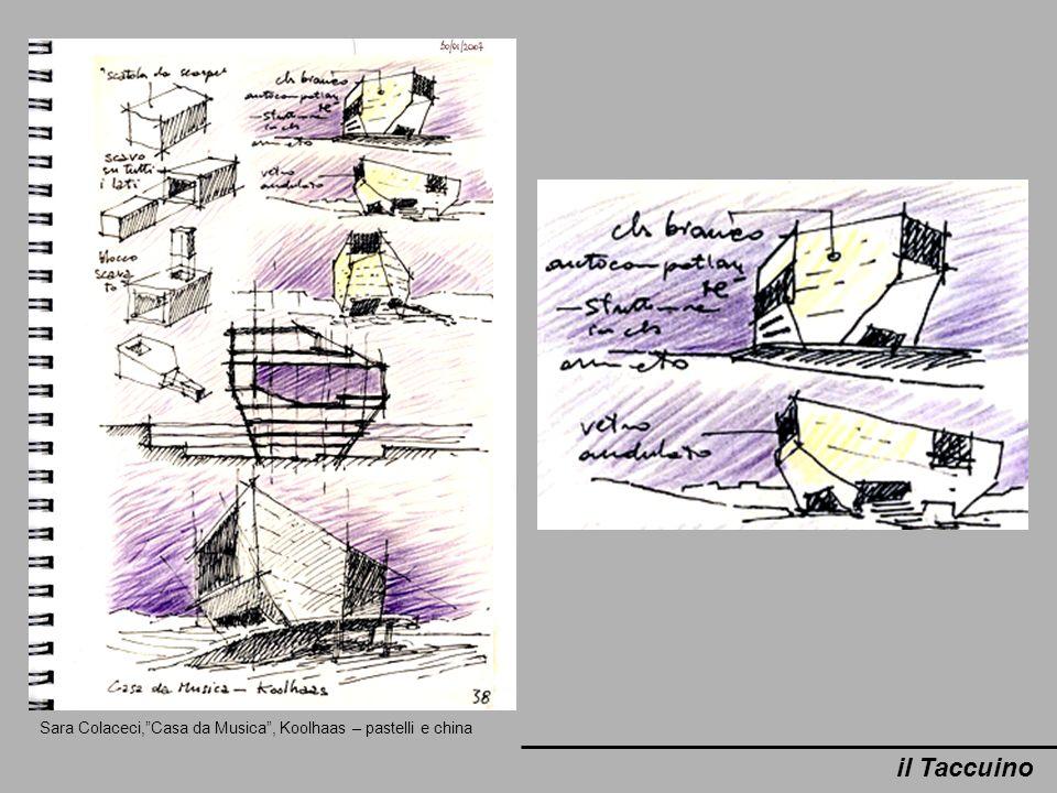 Sara Colaceci,Casa da Musica, Koolhaas – pastelli e china