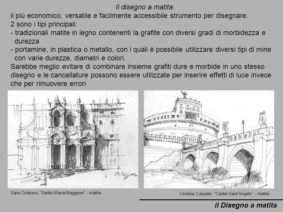 il Disegno a matita Sara Colaceci, Santa Maria Maggiore - matita Cristina Casadei, Castel SantAngelo - matita Il disegno a matita: il più economico, v