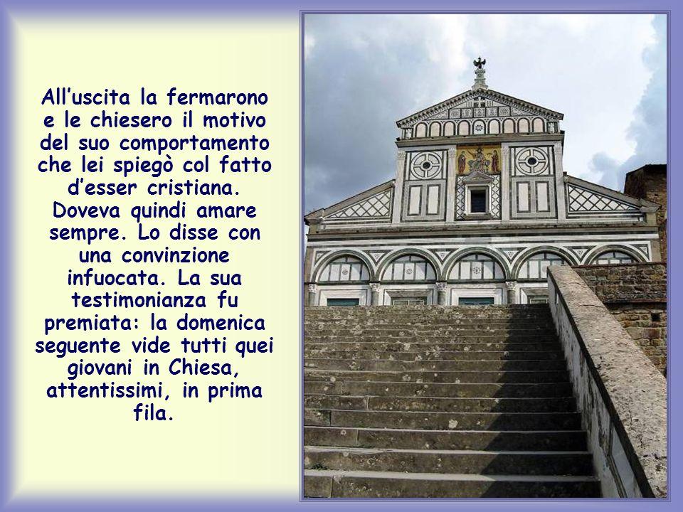 Che dolore quel giorno per Elisabetta, la ragazzina di Firenze, quando salendo i gradini per andare alla Messa si sentì deridere da un gruppo di coeta