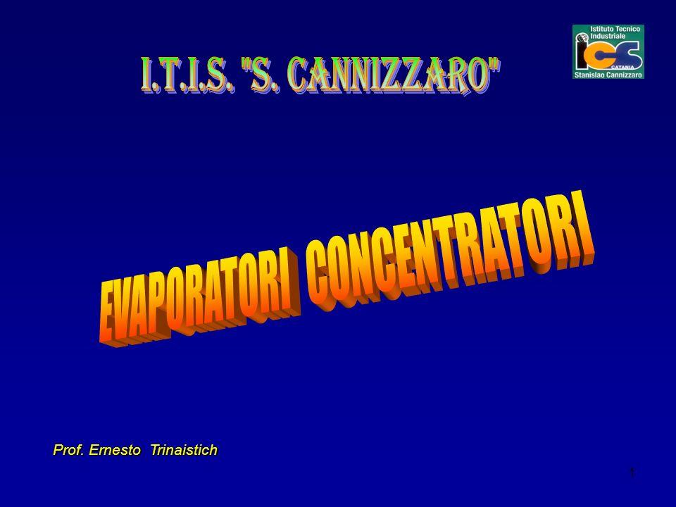 2 EVAPORATORI – CONCENTRATORI Si definiscono: operazioni unitarie un insieme di azioni di natura fisica.