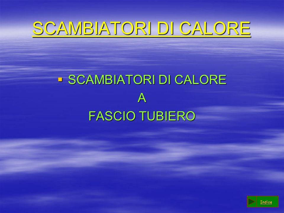 SCAMBIATORI DI CALORE SCAMBIATORI DI CALORE SCAMBIATORI DI CALOREA FASCIO TUBIERO Indice