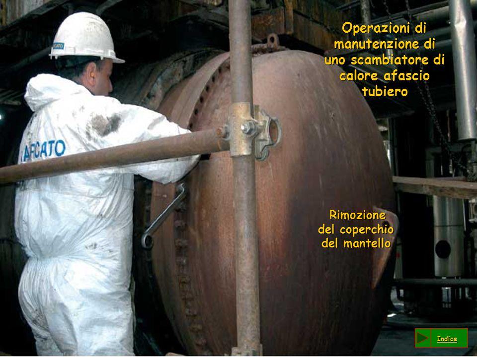 Operazioni di manutenzione di uno scambiatore di calore afascio tubiero Operazioni di manutenzione di uno scambiatore di calore afascio tubiero Rimozione del coperchio del mantello Rimozione del coperchio del mantello Indice
