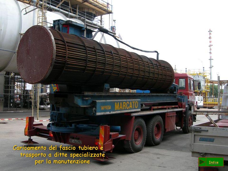 Caricamento del fascio tubiero e trasporto a ditte specializzate per la manutenzione Indice