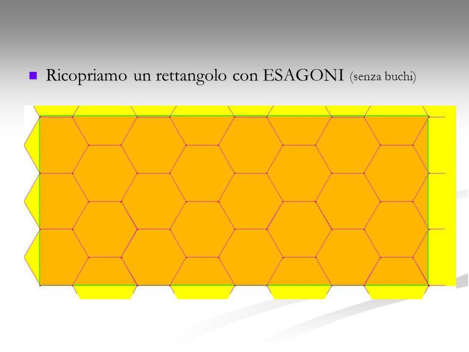 Ricopriamo un rettangolo con ESAGONI (senza buchi) Ricopriamo un rettangolo con ESAGONI (senza buchi)