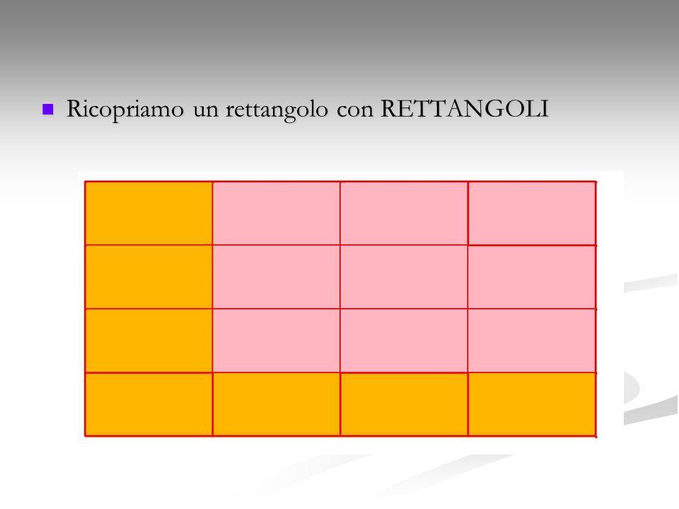 Ricopriamo un rettangolo con RETTANGOLI Ricopriamo un rettangolo con RETTANGOLI