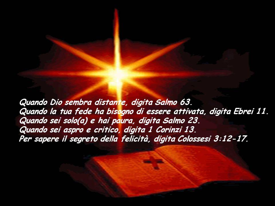 Quando Dio sembra distante, digita Salmo 63.