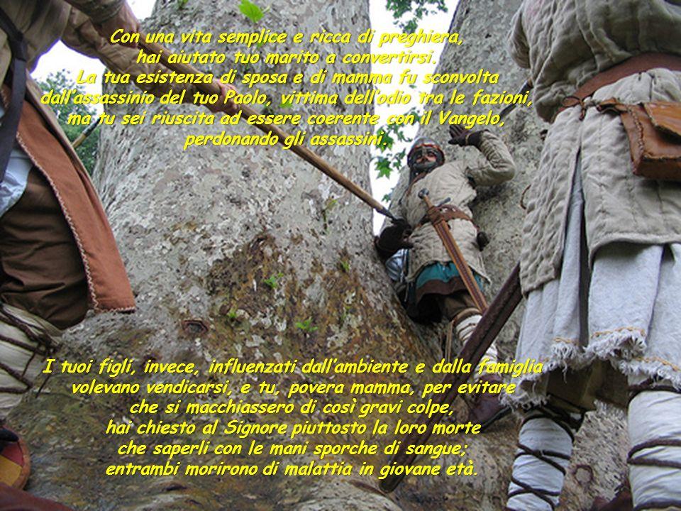 Sei nata a Roccaporena (Cascia) nel 1381 da Antonio Lotti e Amata Ferri, veri pacieri di Cristo nelle lotte politiche e familiari tra guelfi e ghibell