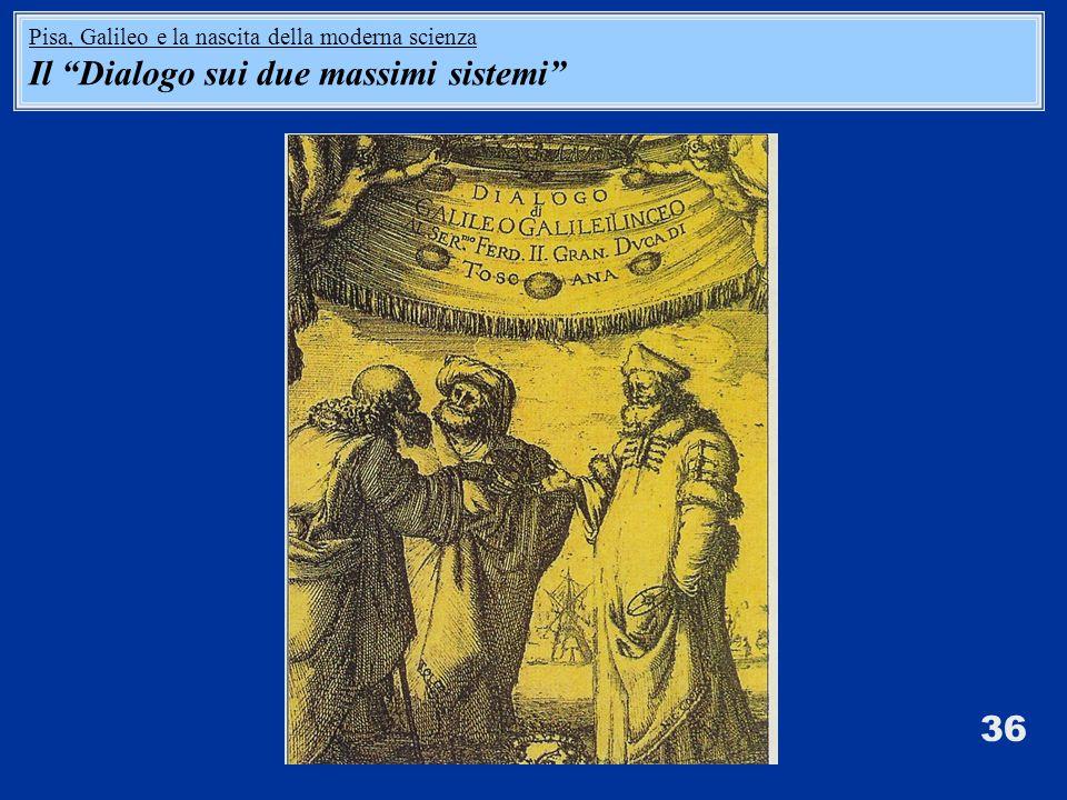 36 Pisa, Galileo e la nascita della moderna scienza Il Dialogo sui due massimi sistemi