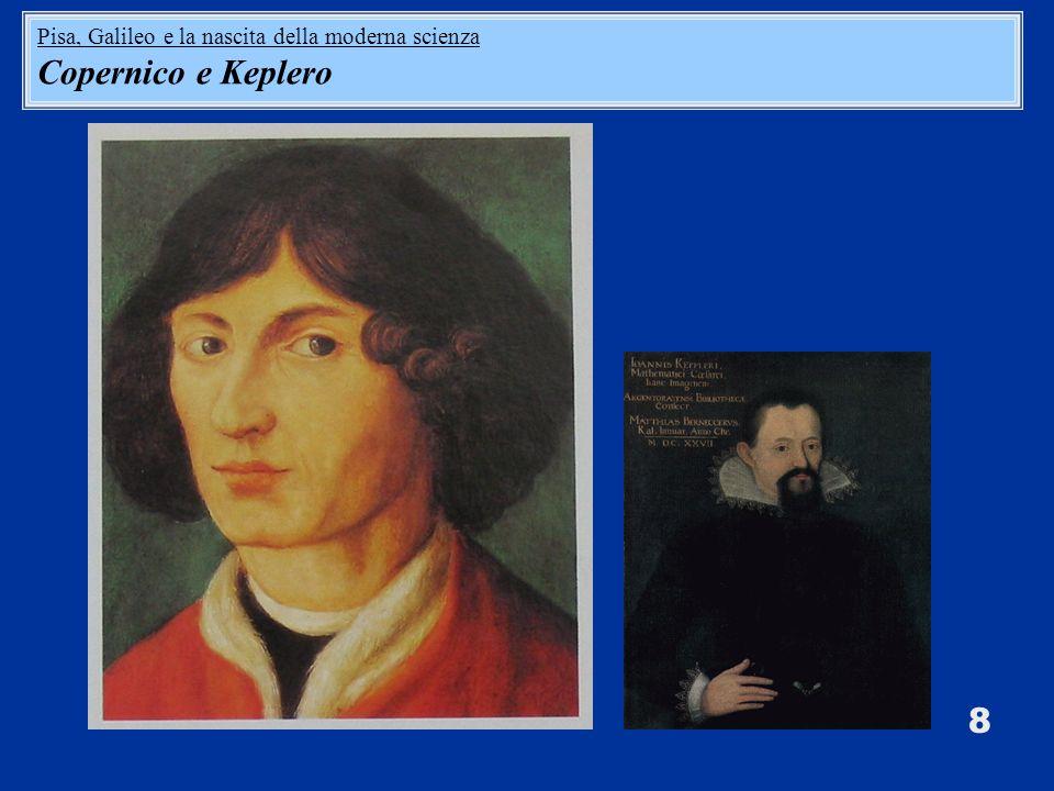 8 Pisa, Galileo e la nascita della moderna scienza Copernico e Keplero