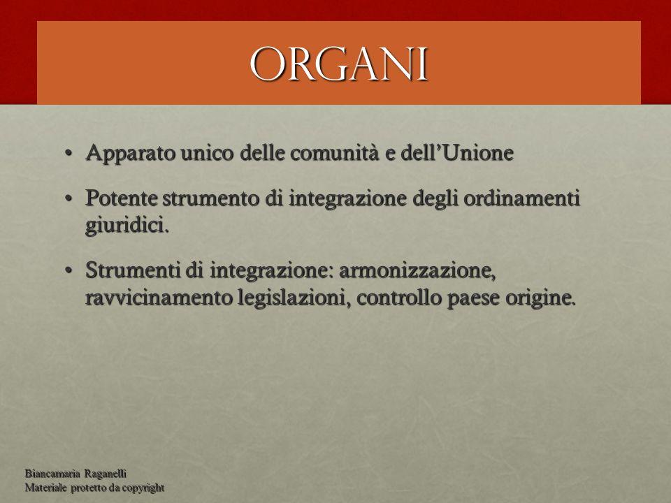 Organi Apparato unico delle comunità e dellUnioneApparato unico delle comunità e dellUnione Potente strumento di integrazione degli ordinamenti giurid