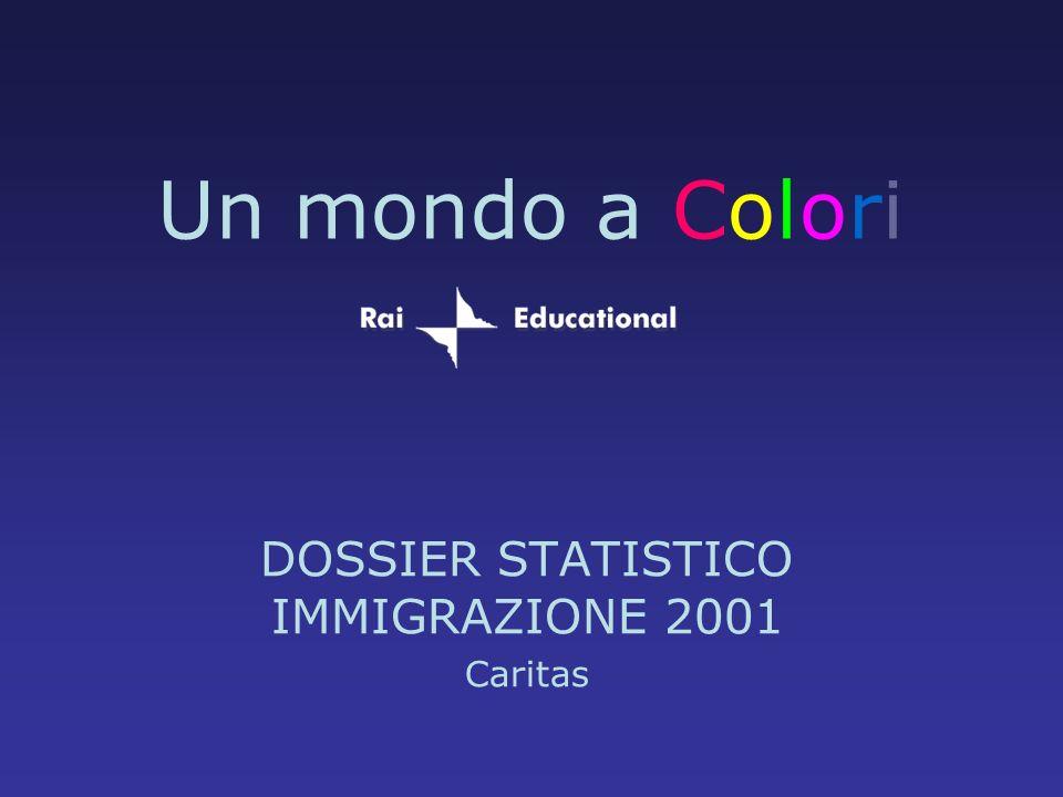 Un mondo a Colori DOSSIER STATISTICO IMMIGRAZIONE 2001 Caritas