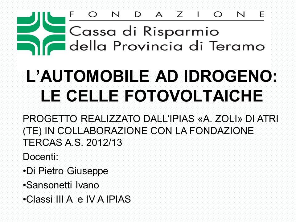PROGETTO REALIZZATO DALLIPIAS «A. ZOLI» DI ATRI (TE) IN COLLABORAZIONE CON LA FONDAZIONE TERCAS A.S. 2012/13 Docenti: Di Pietro Giuseppe Sansonetti Iv