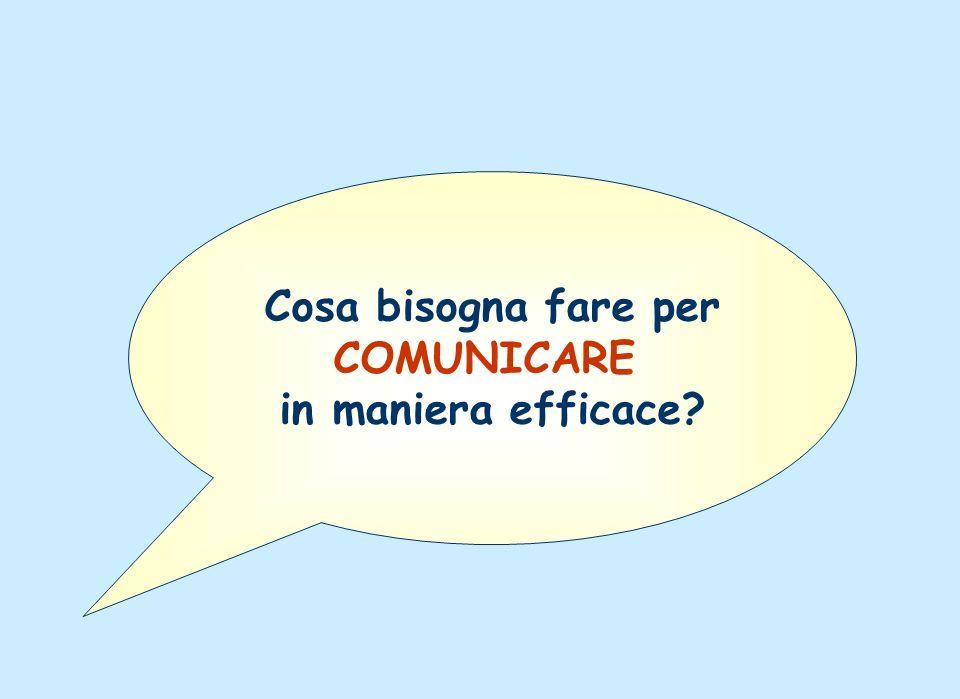 Cosa bisogna fare per COMUNICARE in maniera efficace?