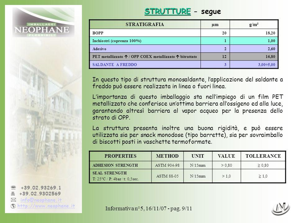Informativa n°5, 16/11/07 - pag.10/11 +39.02.93269.1 +39.02.9302569 info@neophane.it http://www.neophane.it In questo tipo di strutture lapplicazione del saldante a freddo è totale.