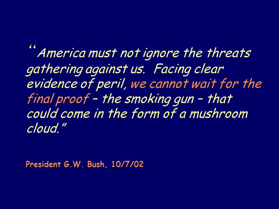 America must not ignore the threats gathering against us.