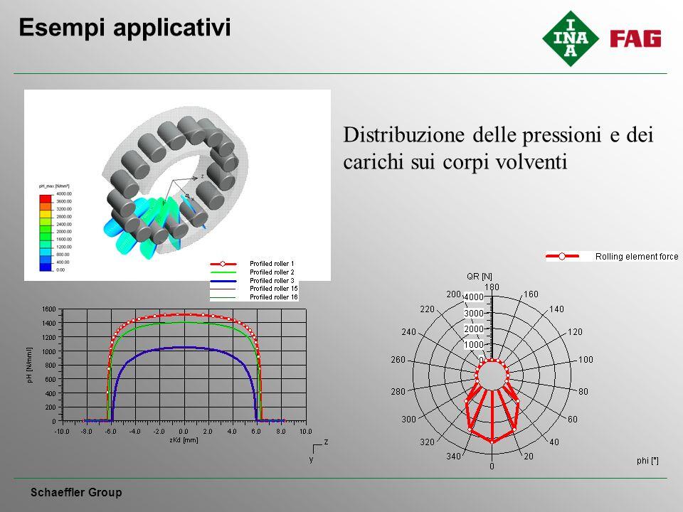 Esempi applicativi Schaeffler Group Distribuzione delle pressioni e dei carichi sui corpi volventi