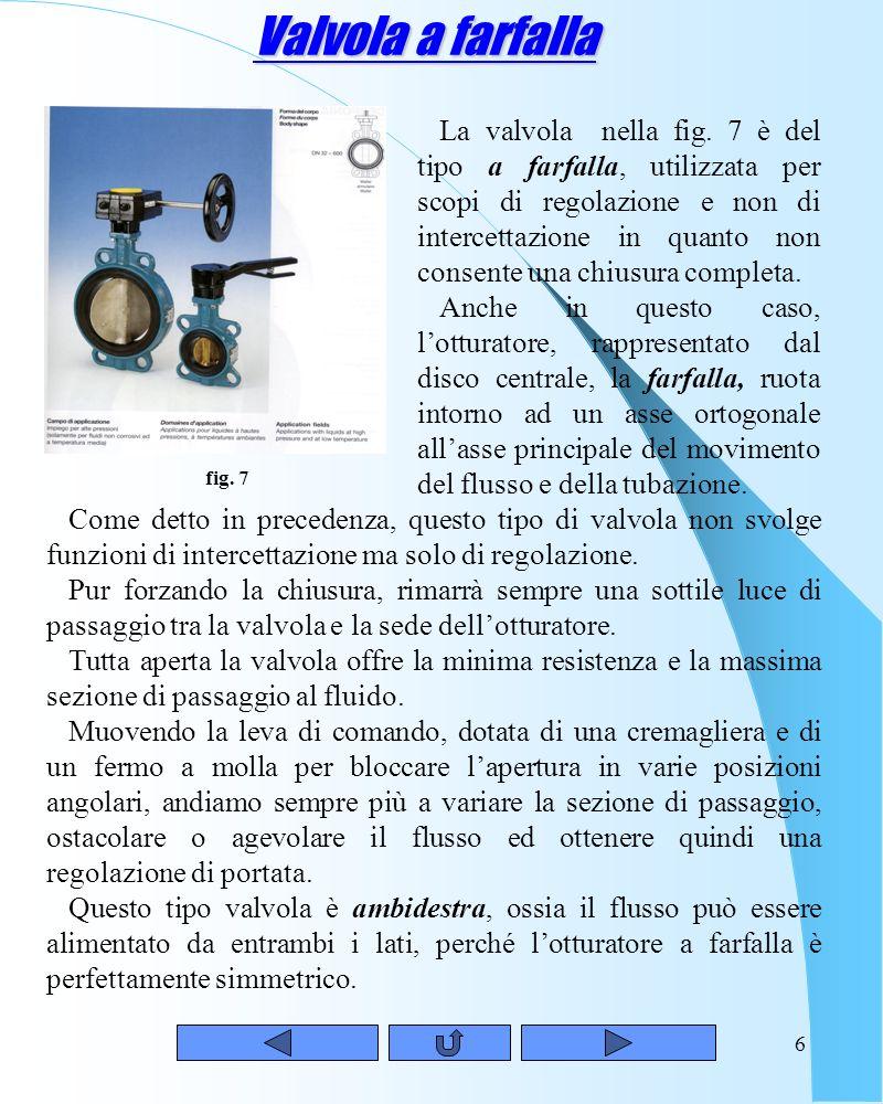 5Rubinetto Un altro tipo di valvola di intercettazione a maschio sferico è rappresentato dal rubinetto (fig. 6). Il nome rubinetto indica che le dimen