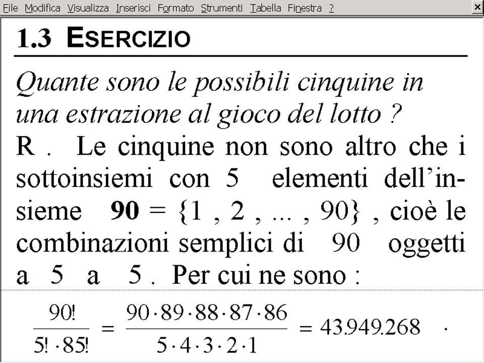 FORMULA DEL BINOMIO di NEWTON triangolo di Tartaglia (o di Pascal) Binomio di Newton