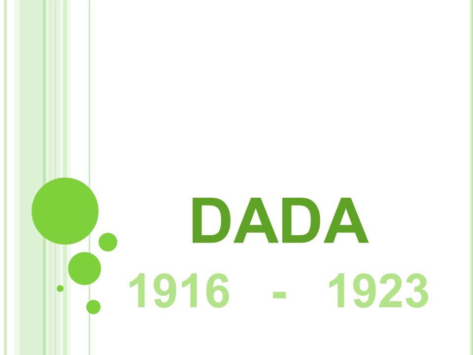 COPERTINA DEL NUMERO UNICO DELLA RIVISTA DADA CABARET VOLTAIRE Con la fondazione del Cabaret Voltaire a Zurigo, il 5 febbraio 1916 nacque il movimento Dada.