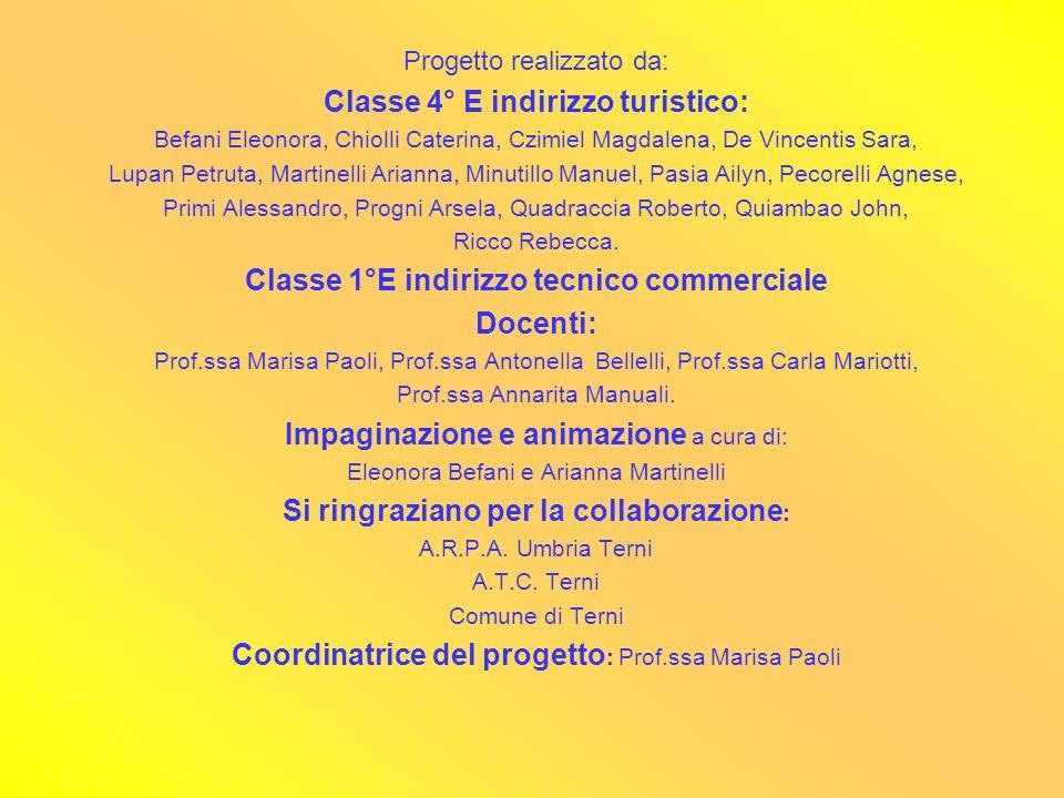 Progetto realizzato da: Classe 4° E indirizzo turistico: Befani Eleonora, Chiolli Caterina, Czimiel Magdalena, De Vincentis Sara, Lupan Petruta, Marti