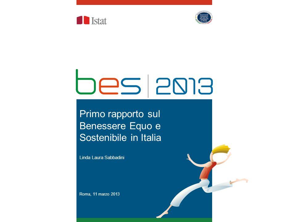 Primo rapporto sul Benessere Equo e Sostenibile in Italia Linda Laura Sabbadini Roma, 11 marzo 2013